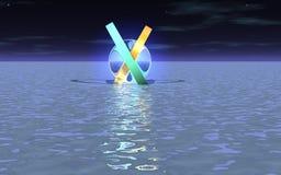 Un objeto extraño en la superficie del océano libre illustration