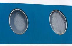 Un oblò di due aerei passeggeri Fotografie Stock Libere da Diritti