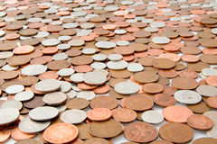 Un océan des pièces de monnaie Photographie stock