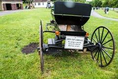 Un'occhiata dello stile di vita tradizionale nel villaggio di Amish, Pensilvania fotografie stock