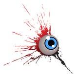 Un occhio con chiazza Fotografie Stock