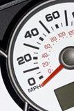 Un odómetro del automóvil fotografía de archivo libre de regalías