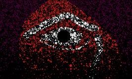 Un oeil de couleur images libres de droits