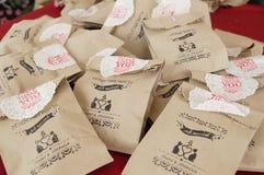 un oeil plus attentif au sac fait maison de sucreries Photographie stock