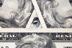 Un oeil sur votre argent Image libre de droits