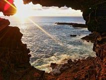 Un oeil vers l'océan photos stock