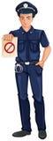 Un oficial de policía ilustración del vector