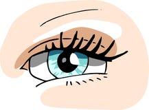 Un ojo de las muchachas Imagen de archivo