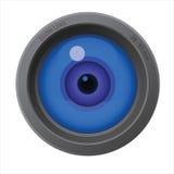 Un ojo dentro de la lente de cámara Fotografía de archivo libre de regalías