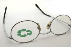 Un ojo en el reciclaje Fotografía de archivo libre de regalías