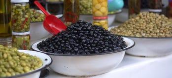 Un oliveto organico di alta qualità Immagini Stock Libere da Diritti