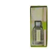 Un olor del aceite de la fragancia en un regalo de la caja imagenes de archivo
