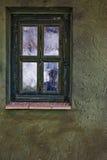 Un'ombra nella finestra Immagine Stock