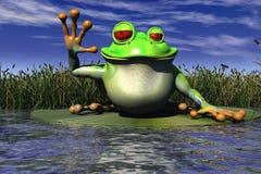 Un ondeggiamento della rana Fotografia Stock
