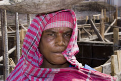 Un operaio femminile indiano Fotografia Stock Libera da Diritti
