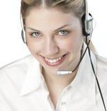 Un operato amichevole telefono/della segretaria fotografia stock libera da diritti