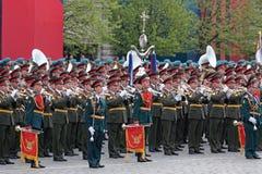 Un'orchestra militare Immagine Stock