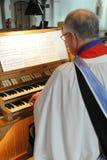 Organista della chiesa Fotografia Stock