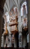 Un organo nella chiesa della st Michel e della st Gulude Immagine Stock