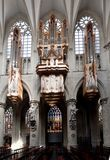 Un organo nella chiesa della st Michel e della st Gulude Fotografia Stock