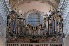 Un organo nella chiesa Ober Pharkirche in Bamerg Immagini Stock Libere da Diritti