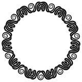 Un ornamento circolare intrecciato di undici serpenti illustrazione di stock