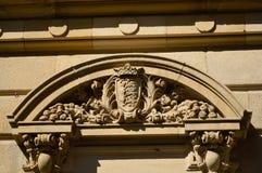Un ornamento di vecchia costruzione storica Fotografia Stock Libera da Diritti