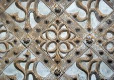 Un ornement gothique d'une trappe médiévale d'église Photographie stock libre de droits