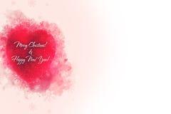 Un ornement rouge décoratif de coeur pour le tre de Noël ou de nouvelle année Image stock