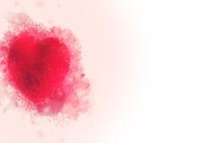 Un ornement rouge décoratif de coeur pour le tre de Noël ou de nouvelle année Photographie stock libre de droits