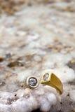 Anello sulla roccia salata Fotografie Stock