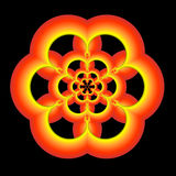 Un oro, una naranja, y un fractal verde Imagenes de archivo