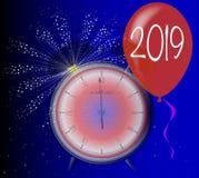 Un orologio da 2019 nuovi anni Immagine Stock Libera da Diritti