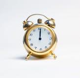 Un orologio di nuovo anno felice Fotografie Stock