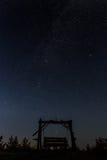 Un'oscillazione sotto le stelle Fotografia Stock