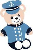 Un oso de capitán Teddy del barco Fotografía de archivo