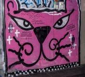 Un otturatore vandalizzato con arte dei graffiti della via Fotografie Stock Libere da Diritti