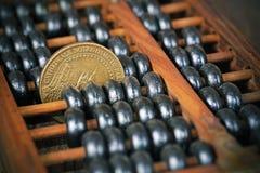 Un outil calculateur de boulier chinois Photo stock