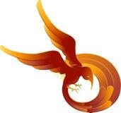 Un pájaro ardiente swooping stock de ilustración