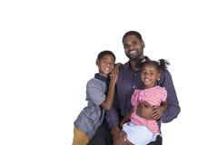 Un père et ses enfants Image libre de droits