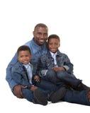 Un père et ses 2 fils Photos stock