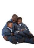 Un père et ses 2 fils Images libres de droits
