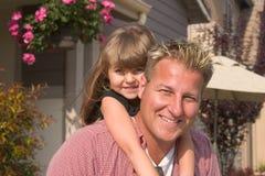 Un père et son daugther image libre de droits