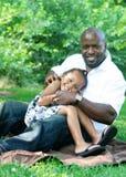 Un père et son descendant Image libre de droits