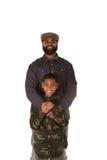 Un père et un fils Photo libre de droits