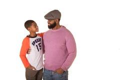 Un père et un fils Image stock