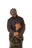 Un père et un fils Images libres de droits