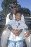 Un père et un fils afro-américains Images stock