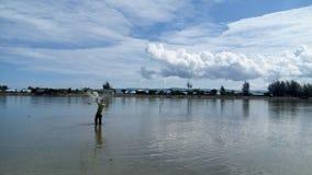 Un pêcheur Images libres de droits