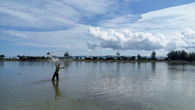 Un pêcheur Photos stock